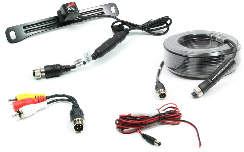 250-8181-HD-10M License plate-mount camera w// 33/' harness