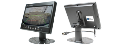 Rostra 250-8212 7-inch TFT LCD monitor with three video inputs and dashboard pedestal mount
