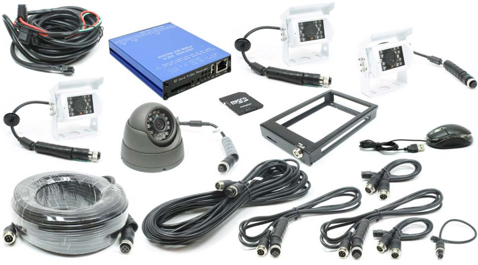 Rostra 250-8930 4-Channel Truck and Bus Digital Video Recording System