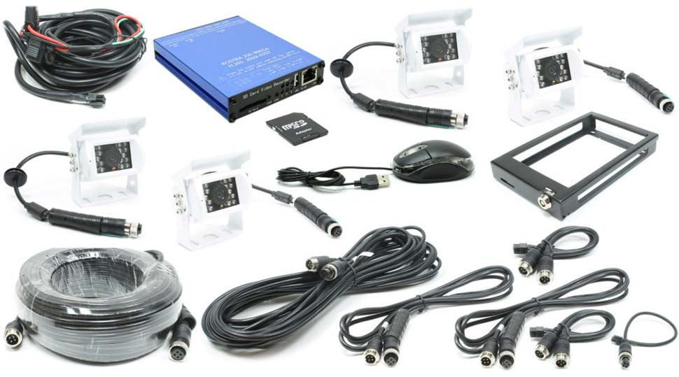 Rostra 250-8934 4-Channel Truck and Bus Digital Video Recording System
