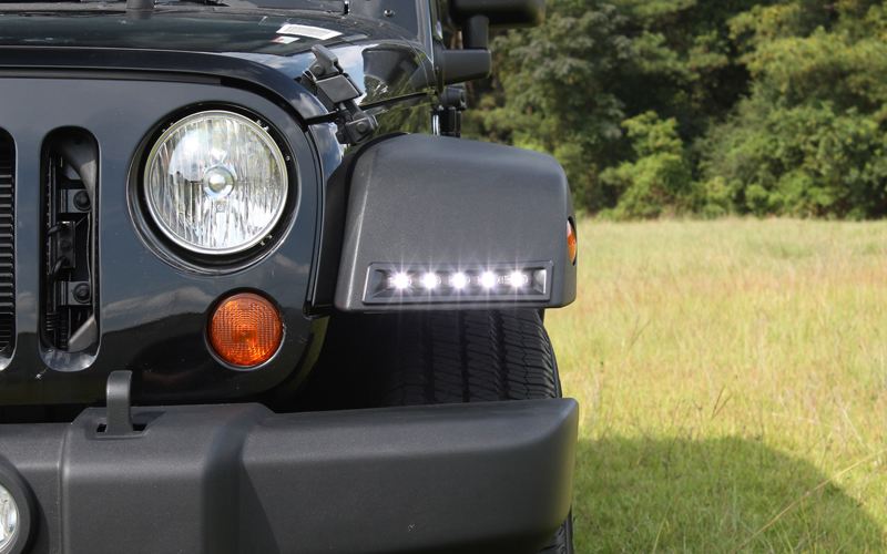 jeep wrangler led daytime running light system now available