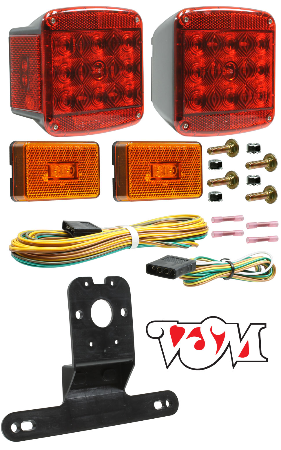 Universal Waterproof Led Trailer Light Kit By Vsm Harness Vsm5551dk With Sumbersible Lamps
